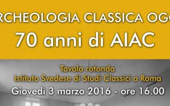 Mesa redonda: Arqueología clásica hoy