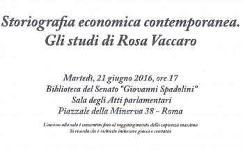 """Seminario """"Storiografia economica contemporanea. Gli studi di Rosa Vaccaro"""""""