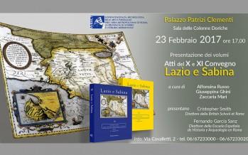 """Presentación del volumen """"Atti del X e XI Convegno Lazio e Sabina"""""""