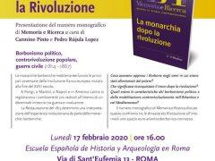 Presentación del volumen: La monarchia dopo la rivoluzione/ 17 de Febrero de 2020