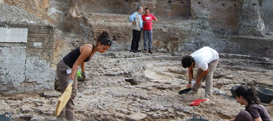Investigaciones arqueológicas en la zona de Palazzo, Villa Adriana (Tivoli)