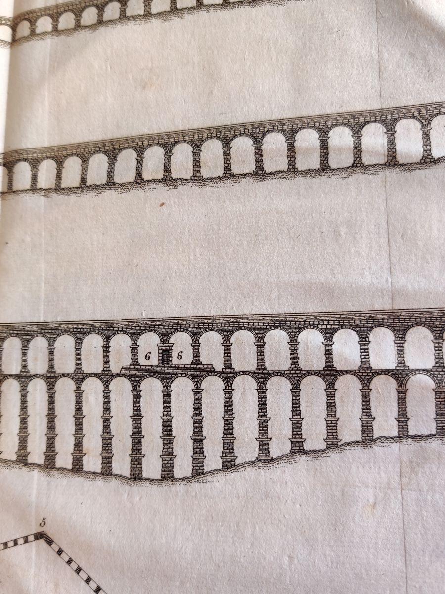 Grabado antiguo Acueducto de Segovia